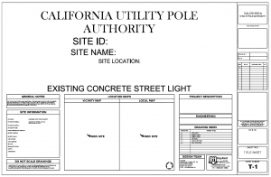 """""""California Utility Pole Authority"""" Project Cover Page"""